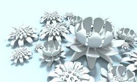 Fiore variopinto 3d illustrazione vettoriale