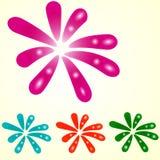 Fiore variopinto semplice dell'elemento della macchia Illustrazione di vettore Fotografia Stock