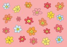 Fiore variopinto su fondo rosa illustrazione vettoriale
