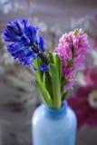 Fiore in vaso blu Fotografie Stock