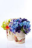 Fiore in vaso dell'annata Fotografia Stock Libera da Diritti