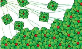 Fiore verde illustrazione vettoriale