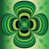 Fiore verde a strisce stilizzato illustrazione vettoriale