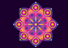 Fiore viola e dentellare Fotografia Stock Libera da Diritti