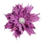 Fiore viola in handmade di cuoio Immagine Stock Libera da Diritti