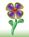 Fiore viola lucido astratto Fotografie Stock
