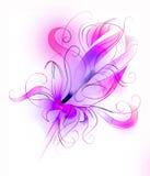 Fiore viola sopra priorità bassa bianca Fotografia Stock