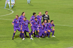 Fiorentina AC with the 2010 Team Stock Image