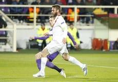Fiorentina - AS Roma - UEFA Europa League Huitieme de Finale:Match Aller Royalty Free Stock Photos