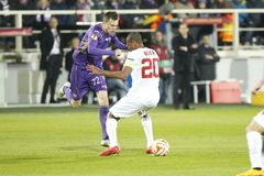 Fiorentina - AS Roma - UEFA Europa League Huitieme de Finale:Match Aller Royalty Free Stock Photos
