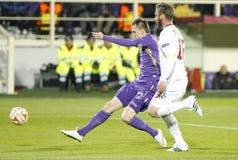 Fiorentina - AS Roma - UEFA Europa League Huitieme de Finale:Match Aller Royalty Free Stock Photography