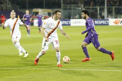 Fiorentina - AS Roma - UEFA Europa League Huitieme de Finale:Match Aller Stock Photos