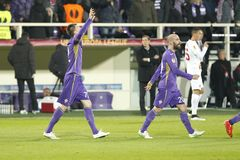 Fiorentina - AS Roma - UEFA Europa League Huitieme de Finale:Match Aller Stock Images