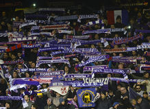 Fiorentina football supporters royalty free stock photo