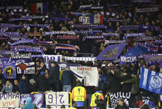 Fiorentina football supporters stock image