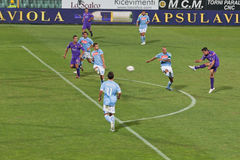 Fiorentina vs Napoli, D'Agostino scores 1-1 Goal Royalty Free Stock Photography