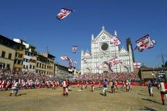 Fiorentino del storico de Calcio, Florencia imagen de archivo