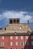 Fiorenzuola δ ` Arda Piacenza, παλαιά κτήρια Στοκ Φωτογραφία