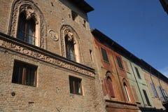 Fiorenzuola δ ` Arda Piacenza, παλαιά κτήρια Στοκ Εικόνα