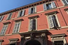 Fiorenzuola δ ` Arda Piacenza, παλαιό κτήριο Στοκ Εικόνες