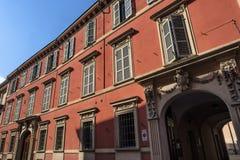 Fiorenzuola δ ` Arda Piacenza, παλαιό κτήριο Στοκ εικόνα με δικαίωμα ελεύθερης χρήσης