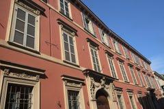 Fiorenzuola δ ` Arda Piacenza, παλαιό κτήριο Στοκ Φωτογραφία