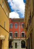 Fiorenzuola Italien, söndag trafik Fotografering för Bildbyråer