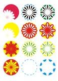 Fiori 2 di colore Immagine Stock