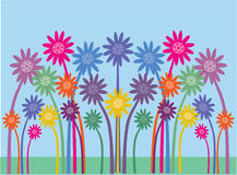 fiori abbastanza simmetrici illustrazione di stock