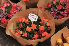Fiori ad un mercato del fiore Fotografie Stock Libere da Diritti