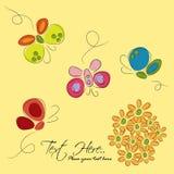 Fiori & farfalle Fotografie Stock