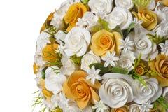 Fiori arancio e bianchi Fotografie Stock Libere da Diritti