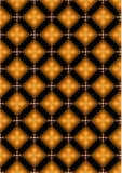 Fiori arancio nei rombi marroni Immagine Stock Libera da Diritti