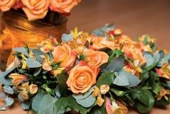Fiori arancioni Fotografia Stock Libera da Diritti