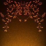 Fiori artificiali con le foglie Immagini Stock Libere da Diritti