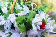 Fiori artificiali di nozze Fotografia Stock