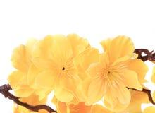 Fiori artificiali gialli. Fotografia Stock
