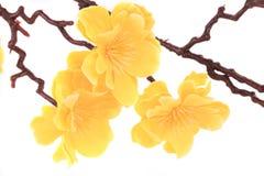 Fiori artificiali gialli. Immagine Stock Libera da Diritti