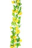 Fiori artificiali gialli Fotografia Stock