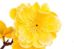 Fiori artificiali gialli Fotografie Stock
