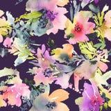 Fiori astratti dell'acquerello Fotografia Stock