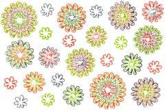 Fiori astratti dell'acquerello su fondo bianco Immagini Stock Libere da Diritti