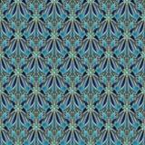 Fiori astratti e forme geometriche con un profilo dell'oro Fotografie Stock Libere da Diritti