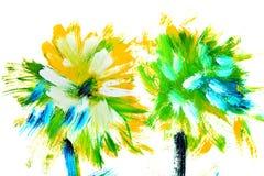 Fiori bianchi blu Fotografia Stock Libera da Diritti