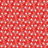 Fiori bianchi del modello floreale senza cuciture su fondo rosso illustrazione vettoriale