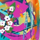 Fiori bianchi della composizione astratta, Fotografia Stock Libera da Diritti