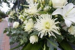 Fiori bianchi di nozze Immagine Stock Libera da Diritti