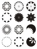 Fiori in bianco e nero Immagine Stock