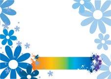 Fiori blu Immagini Stock