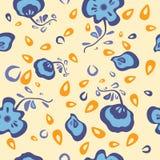 Fiori blu illustrazione di stock